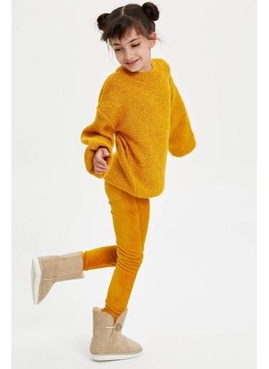 DeFacto Cepli Genç Kız Tayt Sarı